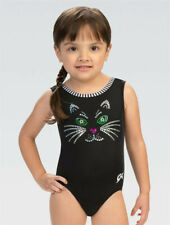"E4212 Kitty Whiskers Gkids â""¢ Gk gymnastics no itch leotard with Spanglez â""¢ Cl"