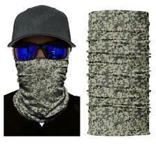 Grey Digital Camo Face Shield Sun Mask Balaclava Neck Gaiter Headwear UV