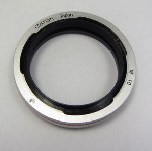 Canon M10 Obiettivo Adattatore Estensione Macro Tubo Ring Fatto IN Giappone OEM