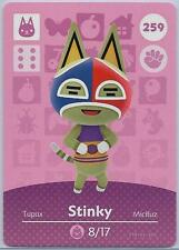 259 Stinky Animal Crossing amiibo card US version mint condition in toploader