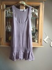 Soft Grey lavender sleeveless knitted tunic, silk & cashmere blend 10/12