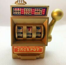 BRIQUET SILVER LIGHTER JACKPOT SLOT MACHINE JAPAN CASINO VINTAGE 1960 1970