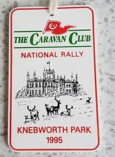Vintage 'KNEBWORTH PARK' National Rally THE CARAVAN CLUB 1995 PLAQUE Badge