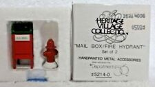 Dept 56 Heritage Village Mail Box / Fire Hydrant - 52140