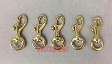 5pcs Small Solid brass leathercraft swivel eye trigger barrel snap hook keychain