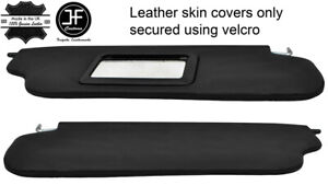BLACK STITCHING 2X REAL LEATHER SUN VISOR COVERS FITS DATSUN 280Z 1975-1978