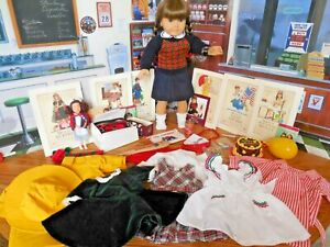 "Vintage 1986 Germany Pleasant Company 18"" Molly Doll in Meet Outfit*Many Extras"