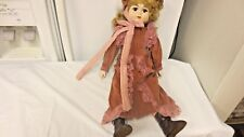 """Older Lucie Sable 21"""" Victorian Lady Porcelain Doll-Cloth Body-Boxed"""
