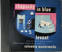 RHAPSODY IN BLUE Gershwin OSCAR LEVANT Columbia Masterworks MX-251 1946 2-LP Set