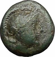 MYRINA in AEOLIS 400BC Athena Amphora Authentic Ancient Greek Coin i49566