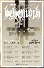 BEHEMOTH | AT THE GATES Ecclesia Diabolica America Tour 2018 Ltd Ed RARE Poster!