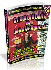 $1000.00 DAILY WITH JOINT VENTURES PDF EBOOK FREE SHIPPING RESALE RIGHTS