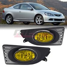 For 2005-2007 Acura RSX PAIR OE Factory Fit Fog Light Bumper Kit Yellow Lens