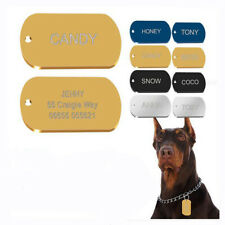 Army Military Dog ID Tags Stainless Steel Pet Cat Dog Puppy Identity Name Tags
