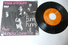 """THE SWEET"""" FUNNY FUNNY- disco 45 giri RCA Ger 1972"""" AUTOGRAPH"""