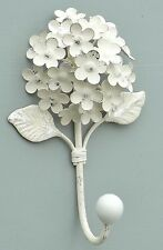 French Shabby Chic Hydrangea Single Wall Clothes Hook