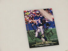 Michael Timpson Autographed New England Patriots Upper Deck Card Signed