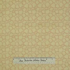Nursery Fabric - Having A Baby Lilac Cream Beige Circle Camelot Cotton Quilt Yd