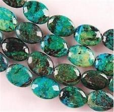 "13x18mm Azurite Chrysocolla Gemstones Oval Loose Beads 15"" X-01"