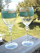 Luminarc Wine Glasses Green Marble Design Set 2 France