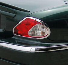 Jaguar X Type Chrome Rear Light Surrounds 2001 to 2009