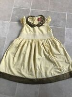 Girls Sugar Squad Cream and Black Dress with Bow age 2-8 New