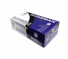 Black Nitrile Gloves Gloveman Medium & Large Disposable Latex Vinyl Free
