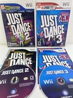 Just Dance 2 & 3 (Nintendo Wii) Lot of 2 Games Complete Tested VG CONDITION!
