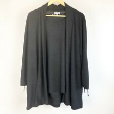 JM COLLECTION 2 piece Black Top and Cardigan Size XL 3/4 sleeve top and jacket