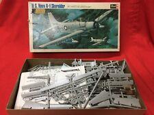 Vintage Revell US Navy A-1 Skyraider Model Plane Kit H-261:300 Box Wear 1965