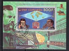 0131++COMORES BLOC 100°ANNIVERSAIRE 1°LIAISON TELEPHONE