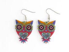 Animal Lovers Earrings - Owl - Piercing Gift - Red