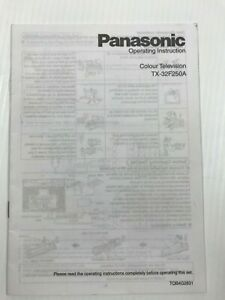 Panasonic Colour Television TX-32F250A  Instructions