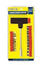 13 Piece T Handle Hex Socket Allen Key Flat Head Phillips Tool Bit Set Kit DIY
