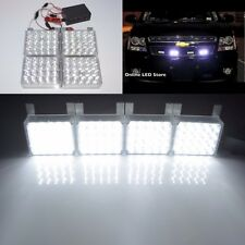 White 80 LED Emergency Vehicle Strobe Flash Lights for Front Grille/Deck
