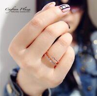 Damenring Doppelring Ring 925 Silber rhodiniert mit Cubic Zirkonia AAA Dezent