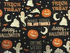 Cotton Halloween Wicked Fabric by The Yard