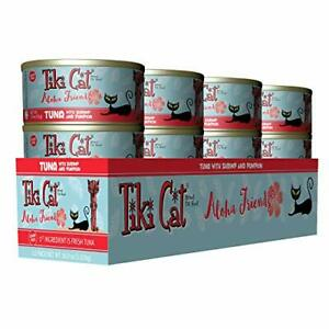 Tiki Cat Aloha Friends Grain-Free Low-Carbohydrate Wet Food with Flaked Tuna ...