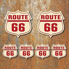 Route 66 Sticker set car motorbike van cafe racer hotrod Retro Vintage Decal c