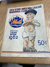 1962 New York Mets Official Yearbook Inaugural Year Rare