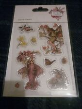 SHEET CICELY MARY BARKER FLOWER FAIRIES CLEAR STAMPS WINTER (9) NEW SEALED