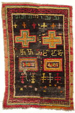 An Outstanding and Unusual antique Tibet sleeping or Resting Khaden Rug