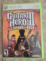 Guitar Hero III Legends of Rock 3 Xbox 360 COMPLETE CIB TESTED