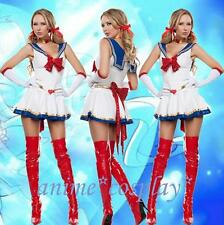 Sexy Sailor Moon Costume Uniform Cartoon Movie Cosplay Halloween Costume Dress