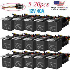 Lots 12V 30/40 Amp 5-Pin SPDT Automotive Relay with Wires & Harness Socket Set