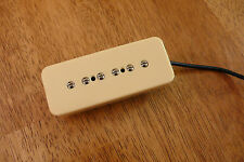 P90 SOAP BAR NECK PICKUP STACKED CREAM FOUR CONDUCTOR WIRED