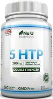 5HTP 200mg 5-HTP 180 Tablets 5 htp Natural Serotonin 100% Money Back Guarantee