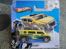 """Hot Wheels 2013 #015/250 SPEEDBOX yellow ambulance """"RETTUNGSWAGEN"""" New 2013"""