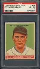 1934 World Wide Gum #34 Pete Jablonowski PSA 4 Newark Bears