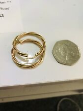 9ct Gold Rose & Yellow Gold Hoop Earrings New
